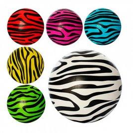 Мяч детский 9 дюймов надувной резиновый Зебра 0931