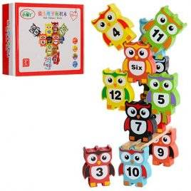 Игрушка деревянная Совы с цифрами MD 0954
