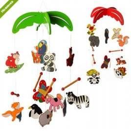 """Подвеска деревянная игрушка """"Животные"""" RMT-MD 0992"""