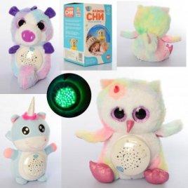Ночник проектор плюшевый с таймером реагирует на плач ребенка QH-XKD-1003-9-11
