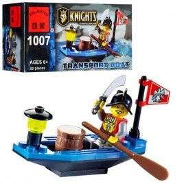 Конструктор Пираты Рыцарь в лодке 1007 Brick