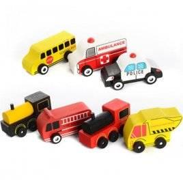 Машинка деревянная игрушка Транспорт MD 1010