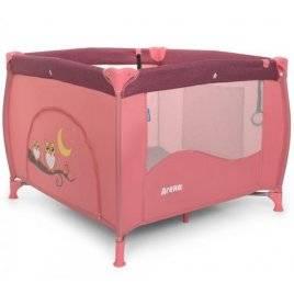 Манеж детский квадратный из льна розовый ME 1030 ARENA Rose Len