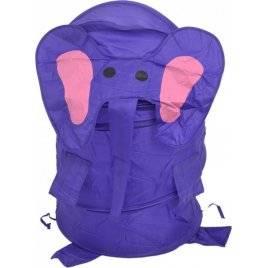 Корзина для игрушек  большая Слон фиолетовая 0282