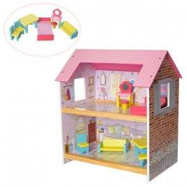 Домик для кукол деревянный  MD 1052