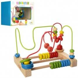 Лабиринт-счеты деревянная игрушка 1055