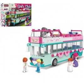 Конструктор для девочек Автобус 2 этажа 447 деталей KB 105