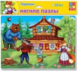 Мягкие пазлы А4 Maxi «Сказки. Репка или Теремок» 24 элемента VT1102-16-1102-15