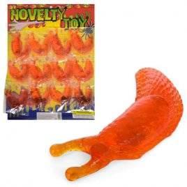 Липучка-слизняк гигантский тянется и липнет оранжевый 13 см 1102-159