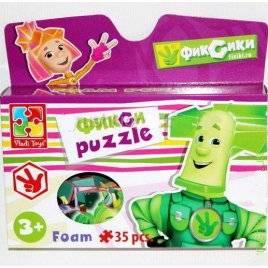 Пазлы Фиксики 35 элементов 1105-08 Vladi Toy в коробке