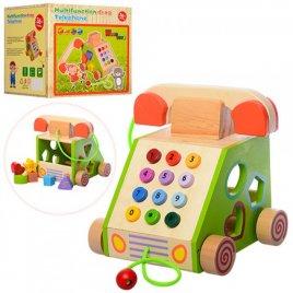 Игрушка из дерева Развивающий центр Умный телефон 1109
