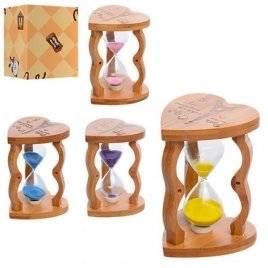 Деревянная игрушка Песочные часы Сердце MD 1112