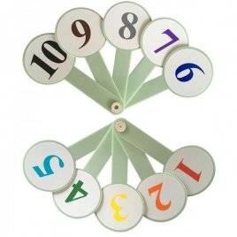 Веер Цифры от 1 до 10 цветные 1114