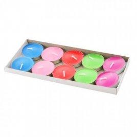 Свечки-таблетки разноцветные 10 штук