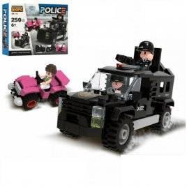 Конструктор  полиция  джип + фигурки 250 деталей KB 113 LimoToy
