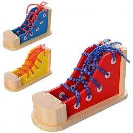 Деревянная шнуровка Ботинок MD 1140