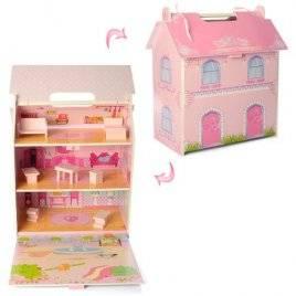 Домик для кукол 2 этажа с мебелью 6913-A
