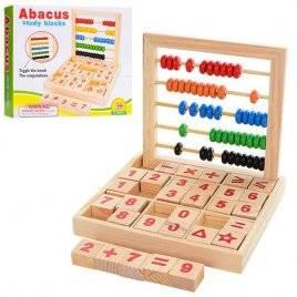 Набор первоклассника со счетами и цифрами деревянная игрушка 1166