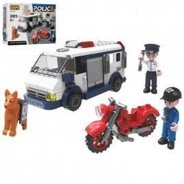 Конструктор полицейский транспорт 201 деталь KB 118
