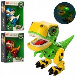 Динозавр металлический со звуком и светом подвижные детали MY66-Q1203