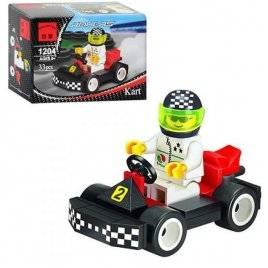 Конструктор Машинка гоночная с фигуркой водителя 1204 Brick