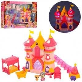 Замок принцессы + фигурки и мебель с музыкой и светом 1206EF