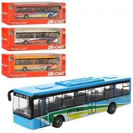 Автобус металлический инерционный 4 цвета 1210-1D17