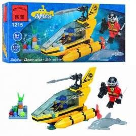 Конструктор Подводная лодка с дельфином 1215 Brick брик