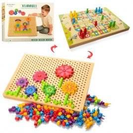 Мозаика деревянная + игра бродилка 2 в 1 1218
