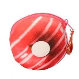 Кошелек-брелок Пончик розовая глазурь плюшевый X12274