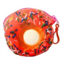 Кошелек-брелок Пончик с присыпкой розовый плюшевый X12274
