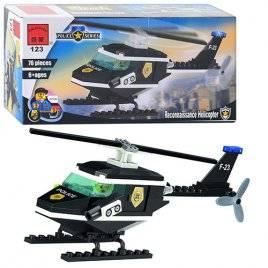 Конструктор авиация Вертолёт черный 123 BRICK