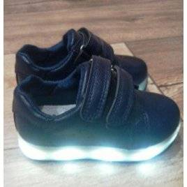 Уценка. Ботинки-кроссовки с подсветкой 23 размер синие