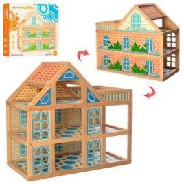 Домик для кукол деревянный 3 этажа с балконом 1239