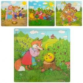 Пазлы деревянные для детей Сказки Е12535