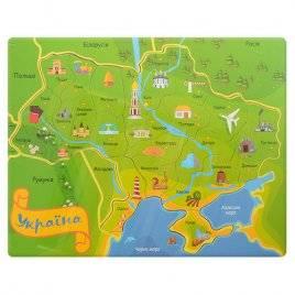 Пазлы деревянные Карта Украины Е12542