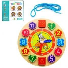 Деревянная игрушка Часы MD 1270