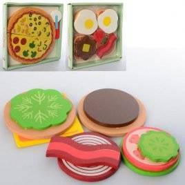 Продукты деревянные Бутерброды, яичница или пицца 1279