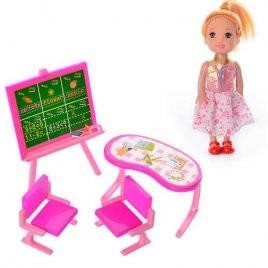 Мини кукла с мебелью 128-1