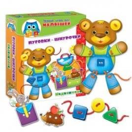 Игра Умничка для малышей «Пуговки-шнурочки. Медвежонок»VT1307-10