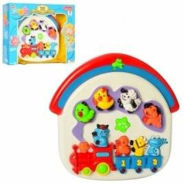 Пианино детское игрушечное со светом Домик для животных 1341E