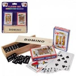 Настольная игра  домино деревянное+карты 2 штуки A140