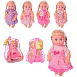 Кукла изумительная Машенька музыкальная в рюкзаке 1401-1402-1403