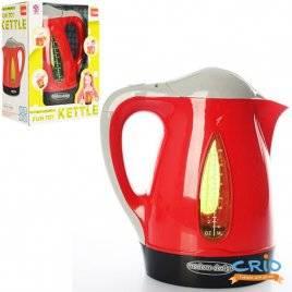 Чайник детский со звуками и светом красно-черный 14013