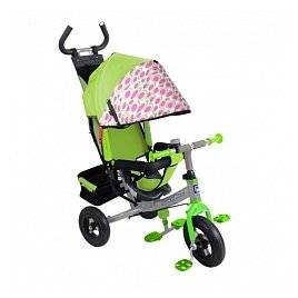 Велосипед трехколесный с надувными колесами колясочного типа 1407 в 3-х цветах