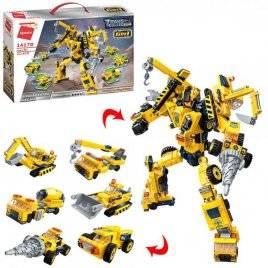 Конструктор трансформер-строитель 6в1 479 деталей 1417D Qman