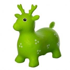 Игрушка прыгун резиновый для детей Олень зеленый 1441