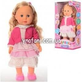 Кукла Даринка интерактивная реагирует на хлопок, говорит на украинском языке, ходит 42 см большая 1445 U