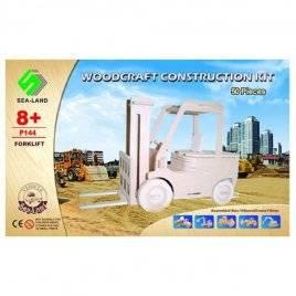 Конструктор деревянные пазлы 3D транспорт-автокар 50 деталей P144