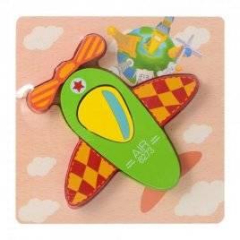 Деревянная игрушка Пазлы  объемные самолет 15-15-1